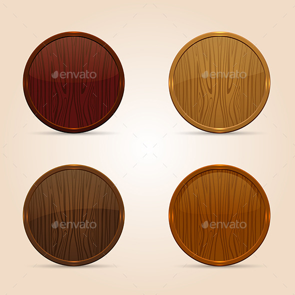 GraphicRiver Wooden Icons 11926668