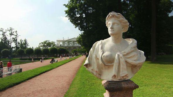Statue In Empress Katherine park Tsarskoe selo