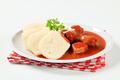 Pork meat in tomato sauce with raised dumplings - PhotoDune Item for Sale