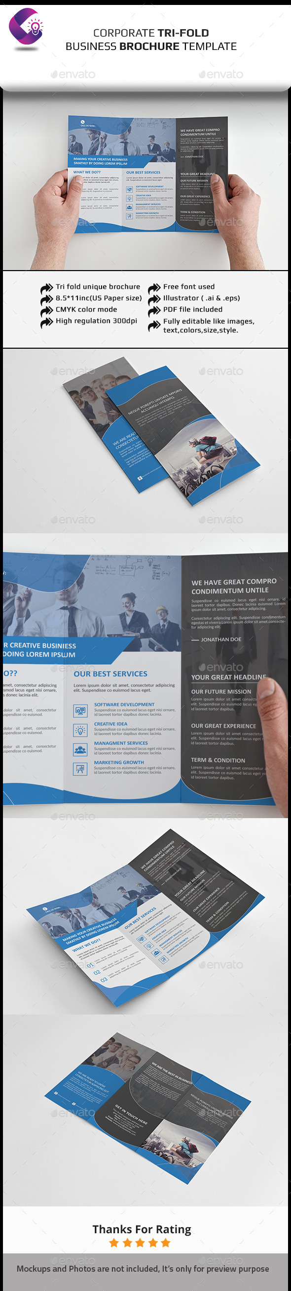 GraphicRiver Corporate Tri-fold Brochure 11927088