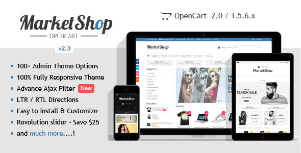MarketShop - Multi-Purpose OpenCart Theme - OpenCart eCommerce