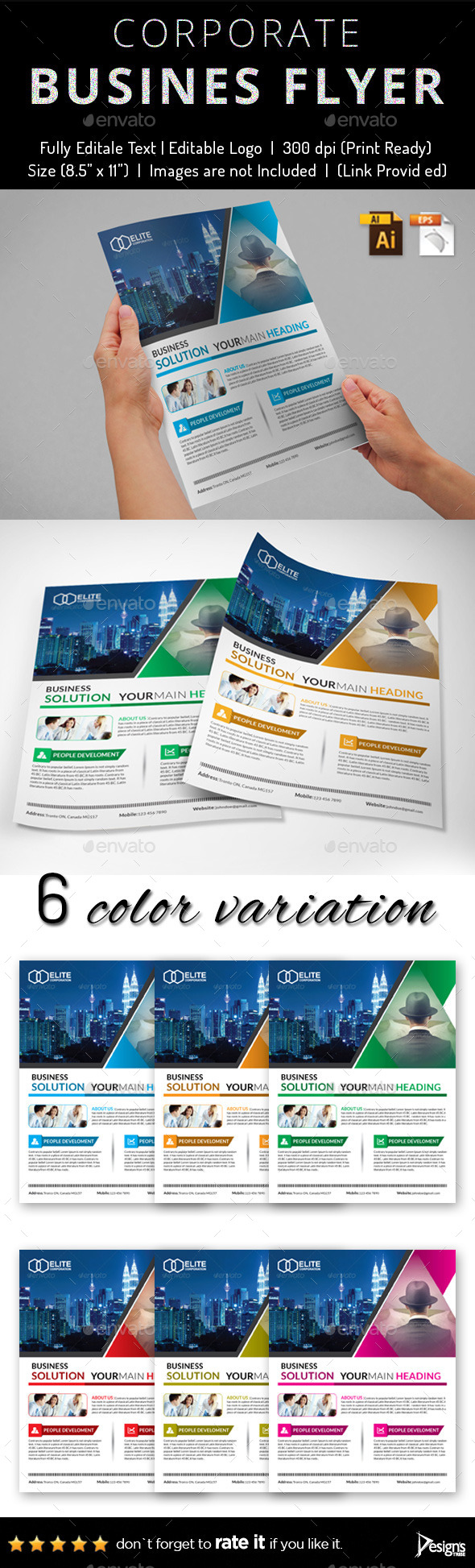 GraphicRiver Multipurpose Business Flyer 45 11927427