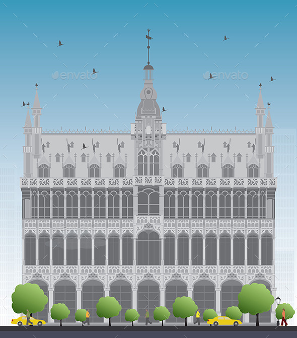 GraphicRiver King s House on Grand Place Square in Brussels 11927869