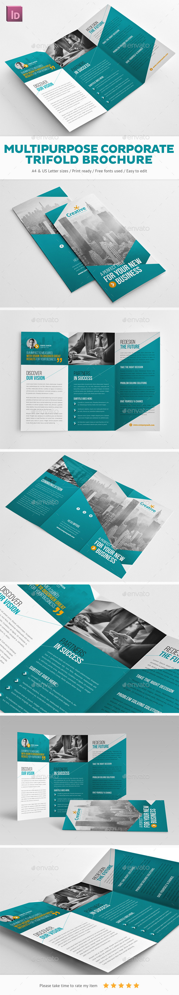 GraphicRiver Multipurpose Corporate Trifold Brochure 11928054