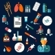 Medical Flat Icons With Medication And Diagnostics - GraphicRiver Item for Sale