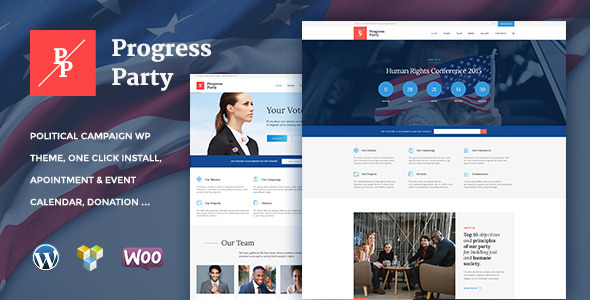 20 - ProParty | Political WordPress theme