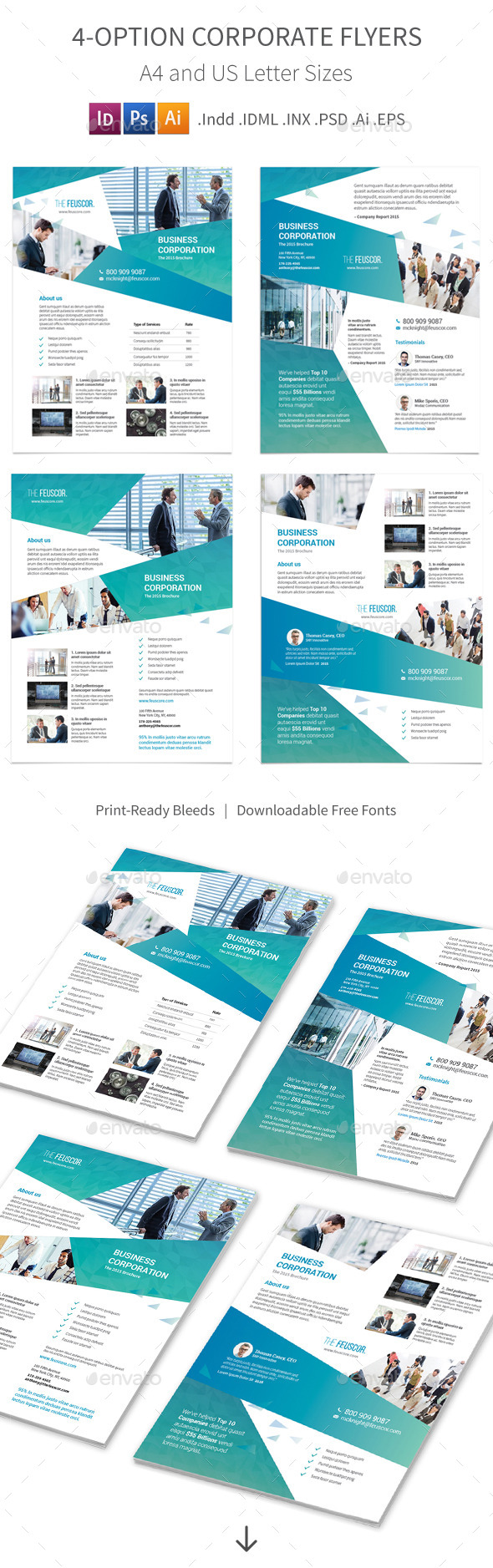 GraphicRiver Corporate Company Flyers 4 Options 11928343
