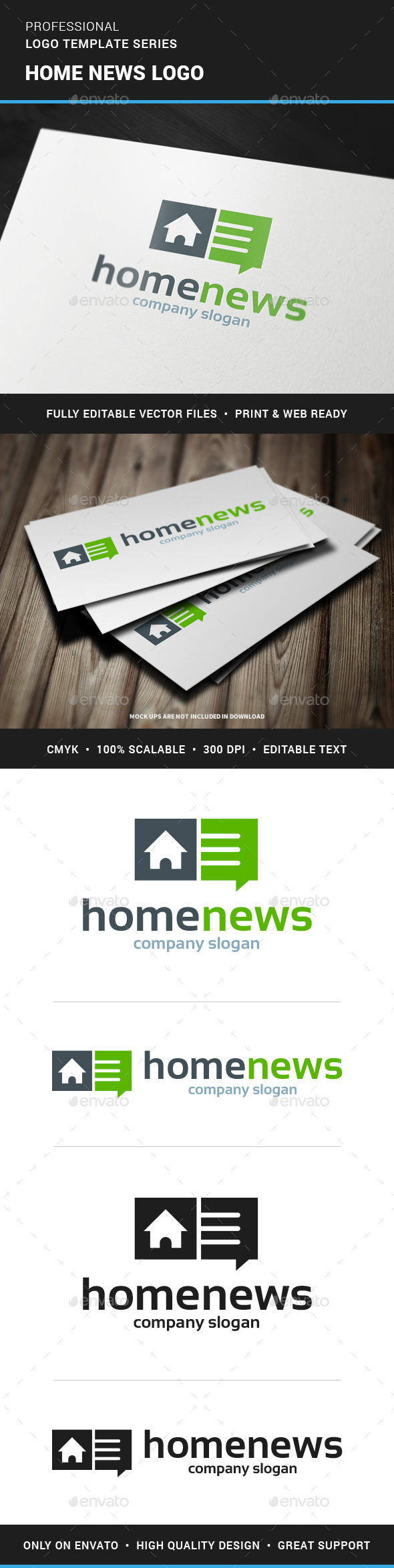 GraphicRiver Home News Logo Template 11928374