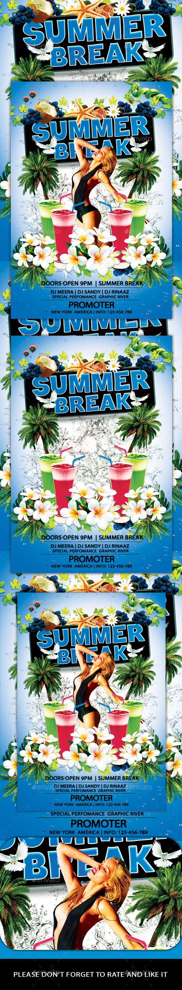 GraphicRiver Summer Break Flyer 11928379