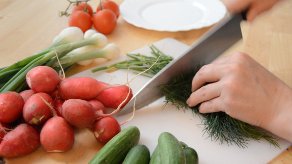 Chopping Dill