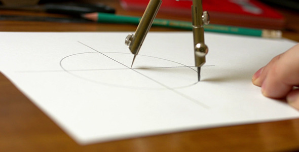 People Draw a Compass on the Paper