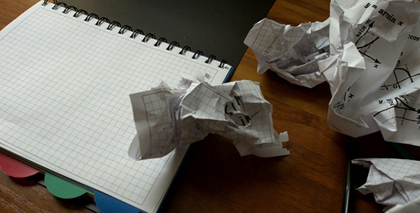 Man Destroys Paper with Formulas in Notepad