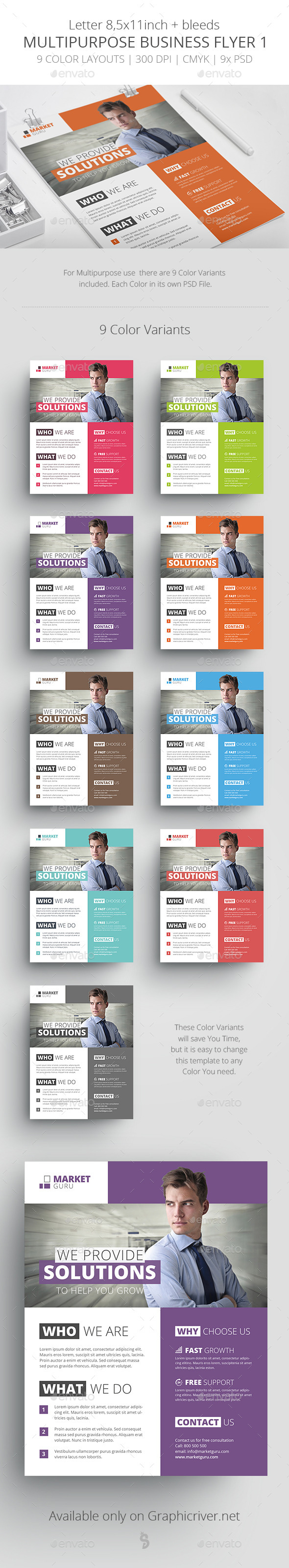 GraphicRiver Multipurpose Business Flyer Template 1 11929457