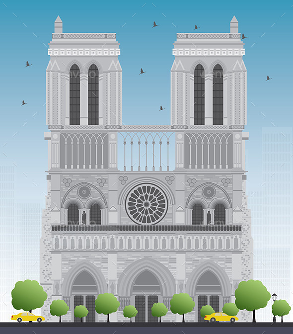 GraphicRiver Notre Dame Cathedral in Paris 11929494