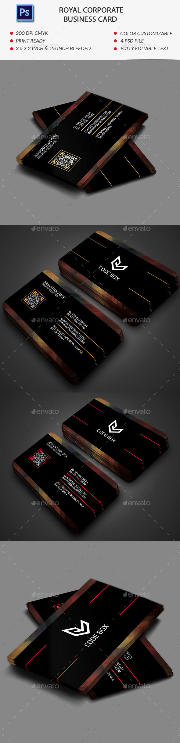 GraphicRiver Royal Corporate Business Card Template 11929509