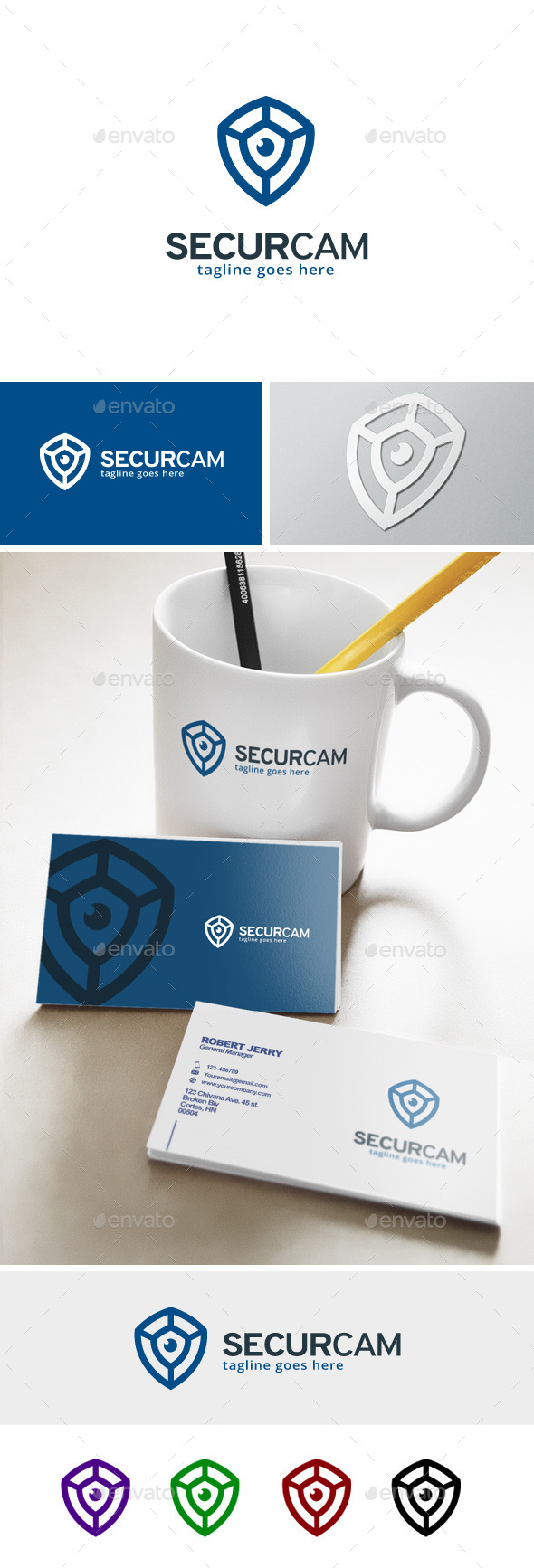 GraphicRiver Security Camera Logo 11929534