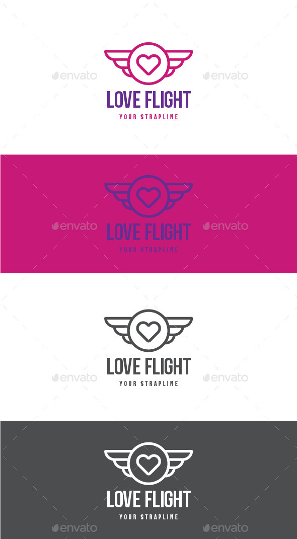 GraphicRiver Love Flight Logo 11929547