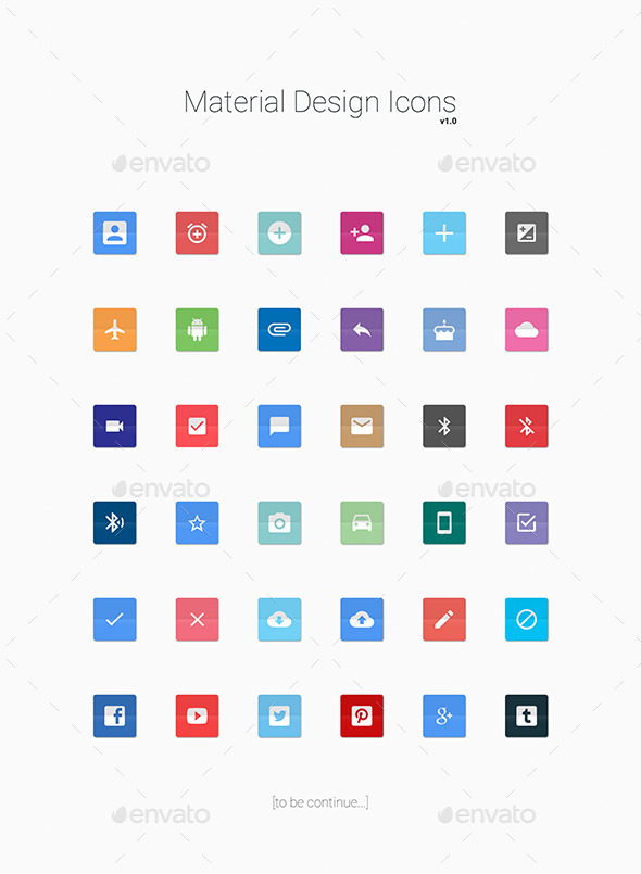 GraphicRiver Material Design Icons 11929548
