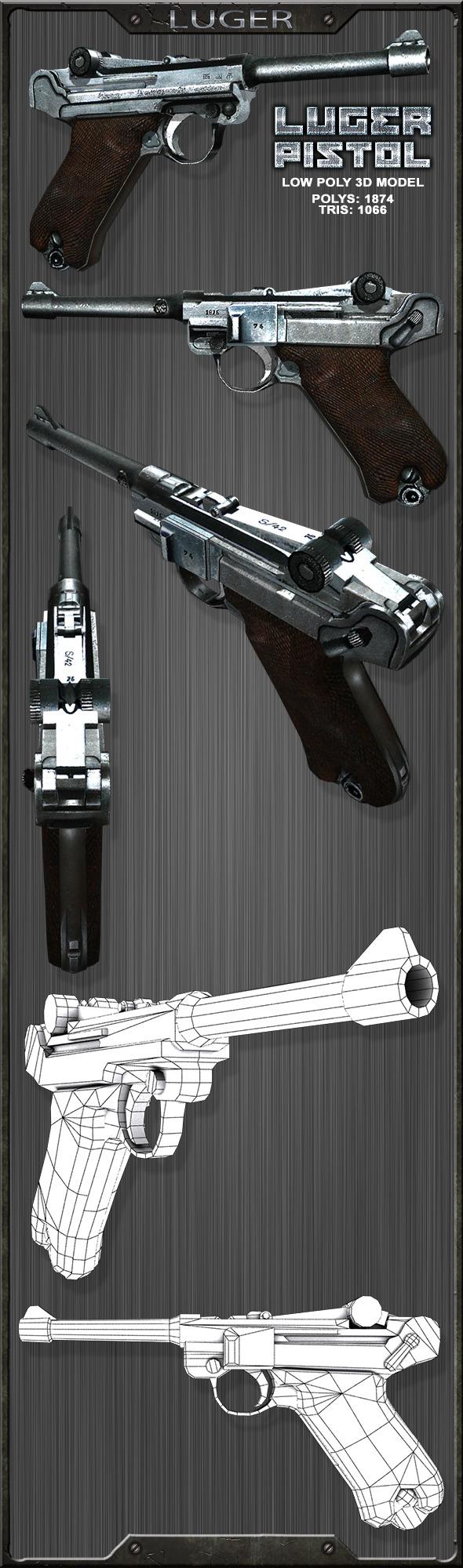 3DOcean Luger P08 Parabellum 11929621