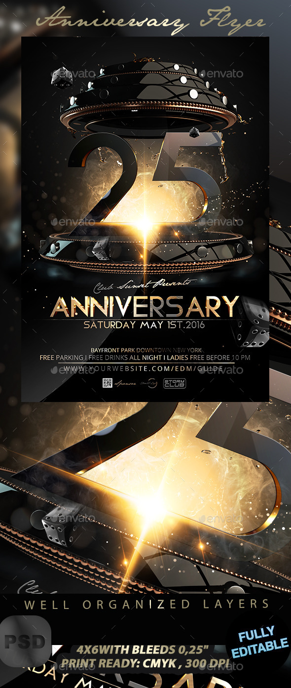 GraphicRiver Anniversary Flyer 11929653