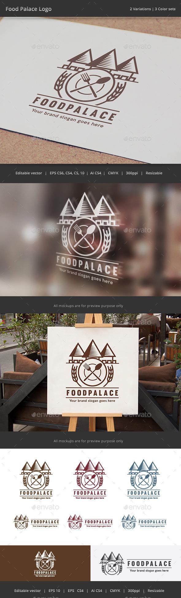 GraphicRiver Food Palace Logo 11929713