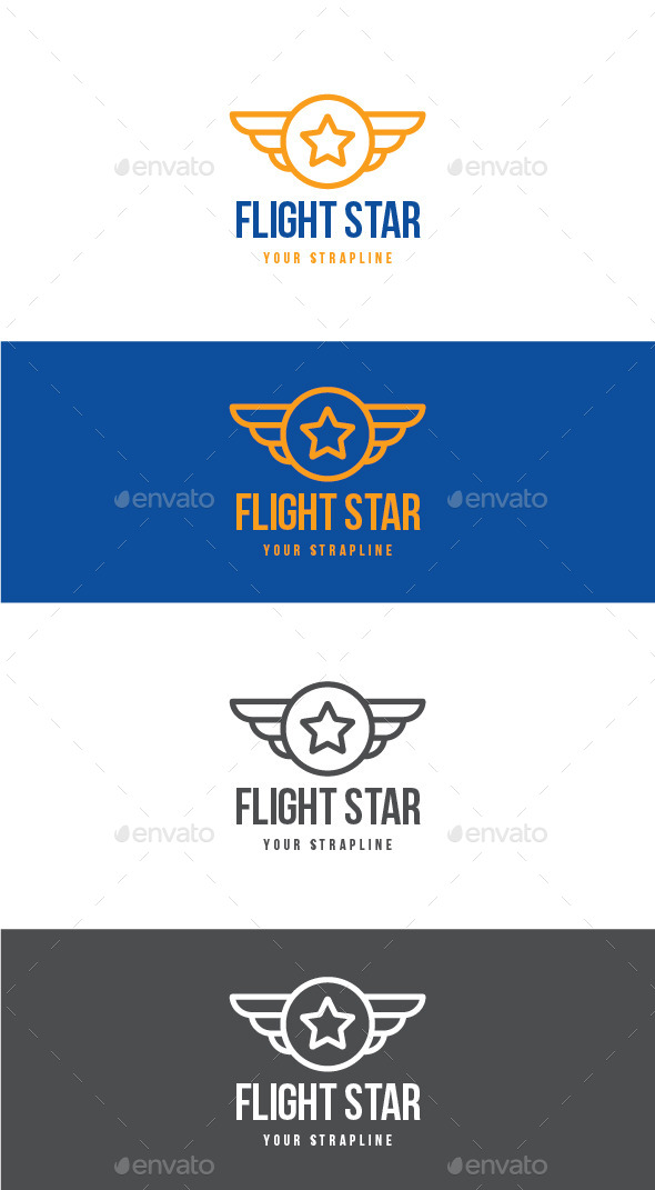 GraphicRiver Flight Star Logo 11929775