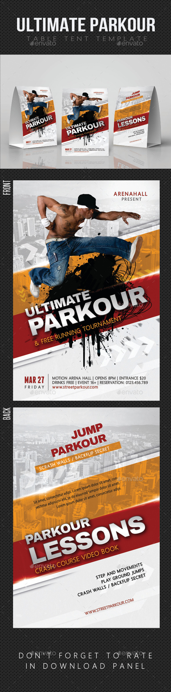 GraphicRiver Ultimate Parkour Table Tent 11929910