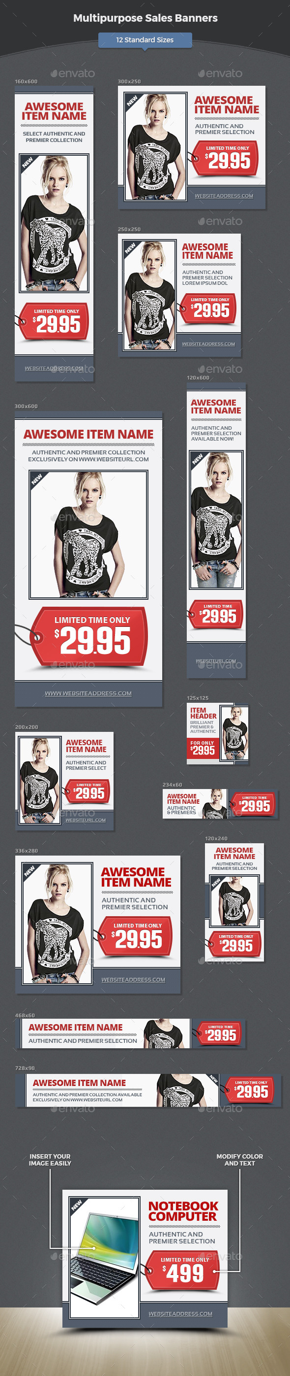 GraphicRiver Multipurpose Sales Banners 11930001