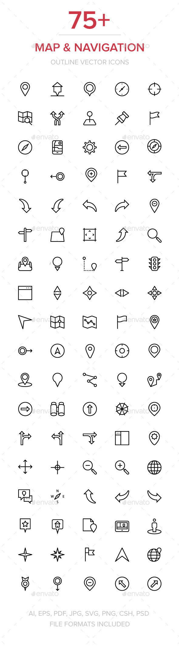 GraphicRiver 75& Navigation Vector Icons 11930022