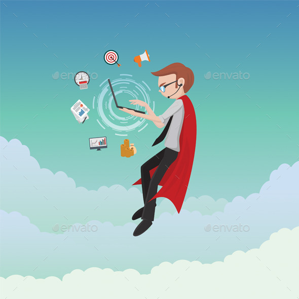 GraphicRiver Business Heroes 11930066