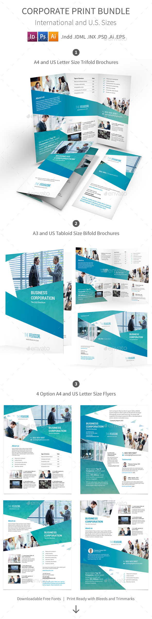 GraphicRiver Corporate Company Print Bundle 11930117