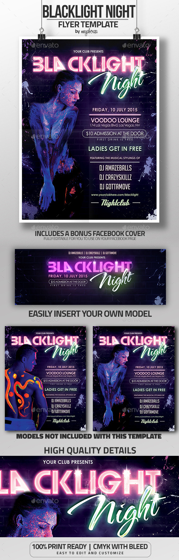 GraphicRiver Blacklight Night Glow in the Dark Flyer 11930278