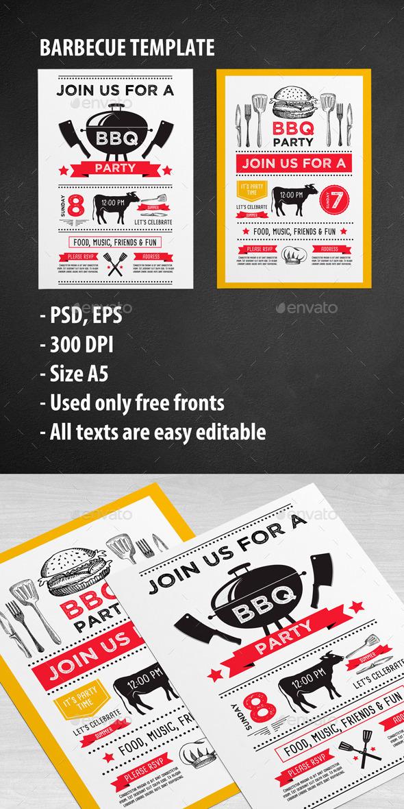 GraphicRiver Bbq Party Invitation 11922152