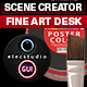 Fine Art Desk Hero & Header Scene Creator #1