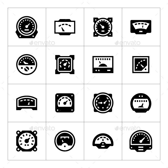 GraphicRiver Set Icons of Meter 11931145