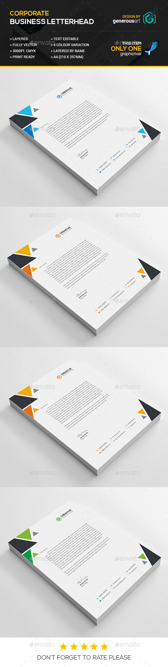 GraphicRiver Business Letterhead 11931148