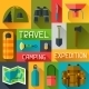 Tourist Background with Camping Equipment - GraphicRiver Item for Sale