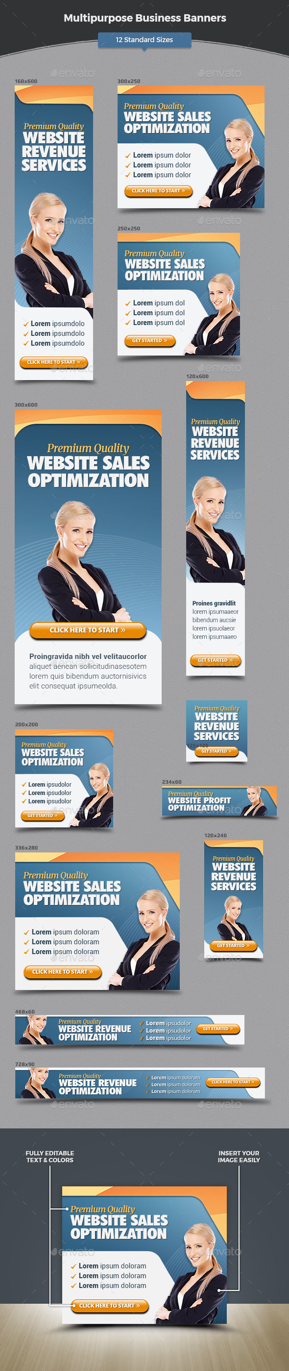 GraphicRiver Multipurpose Business Banners 11931188