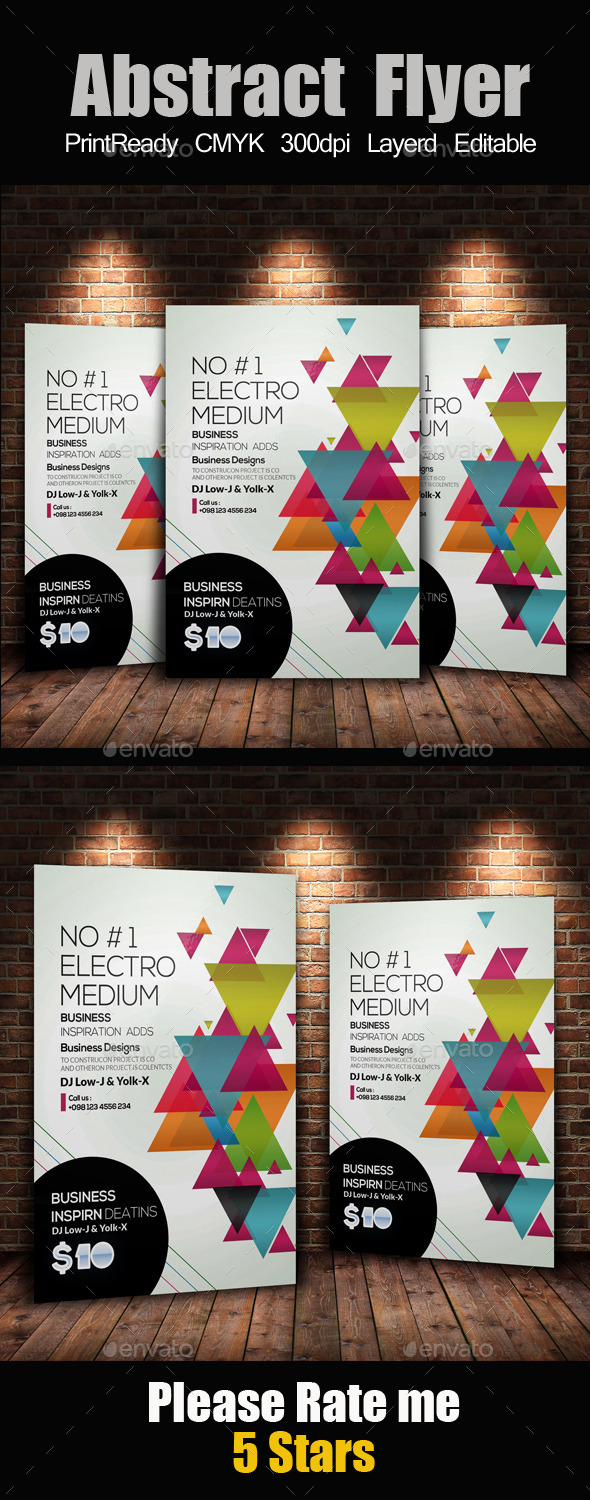 GraphicRiver Creative Business Flyer Template 11931281