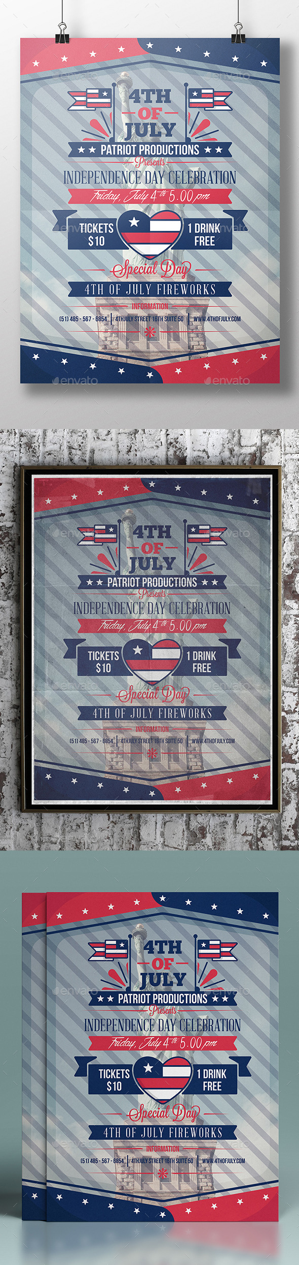 GraphicRiver 4th Of July Flyer Template 11931350