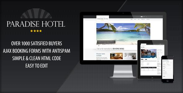 Responsive Paradise Hotel - Travel Retail