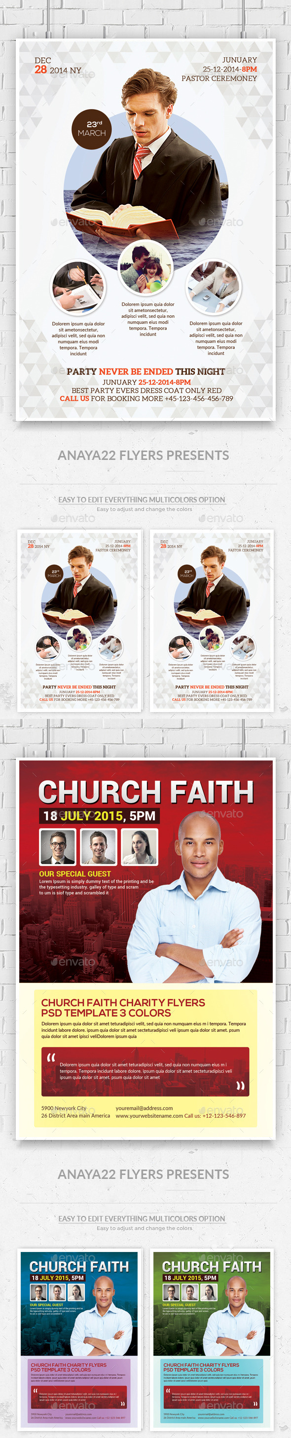GraphicRiver Church Flyers Bundle 11932013