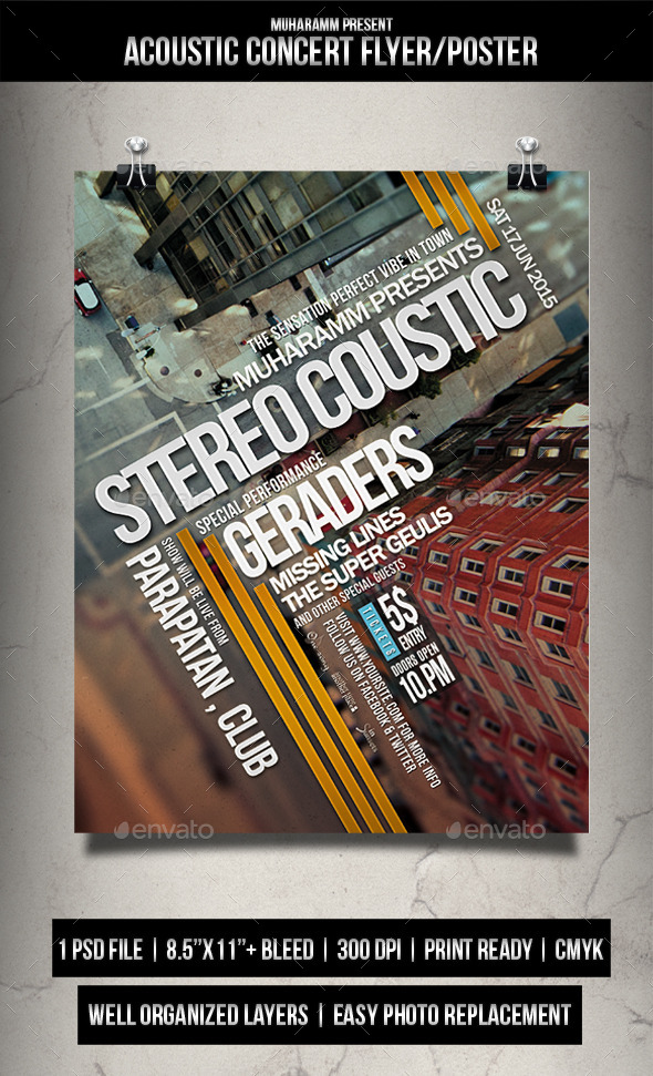 GraphicRiver Acoustic Concert Flyer Poster 11932179