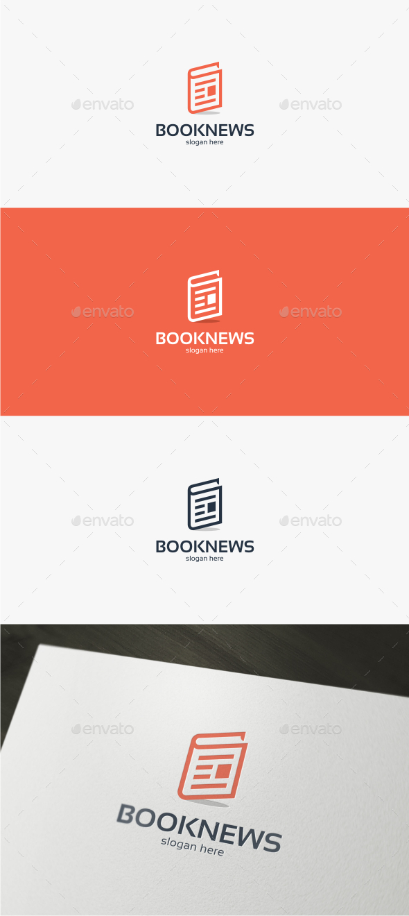 GraphicRiver Book News Logo Template 11932276