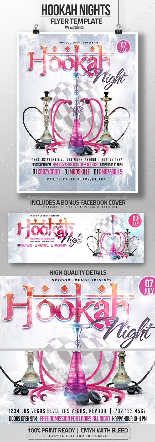 GraphicRiver Hookah Night Flyer Poster Template 11932342