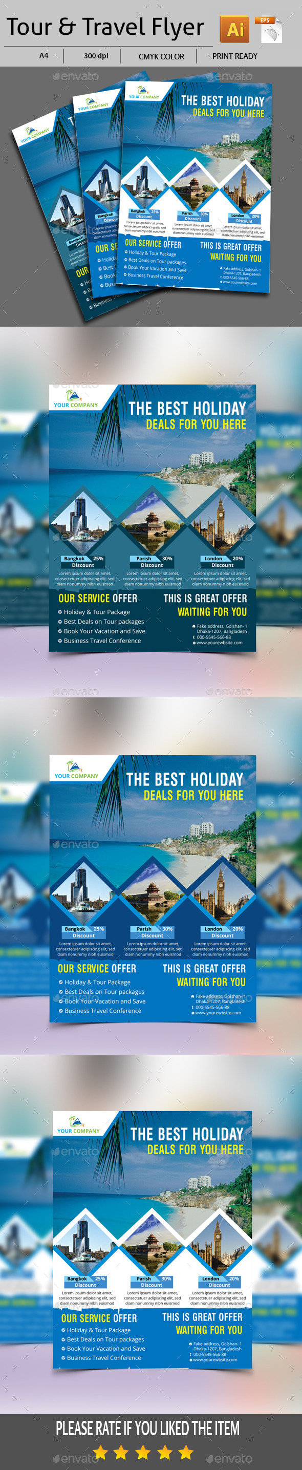 GraphicRiver Tour & Travel Flyer 11907605