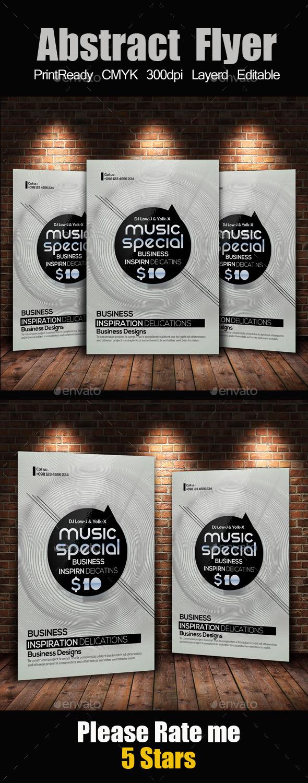 GraphicRiver Electro & Futuristic Flyer Template 11932584