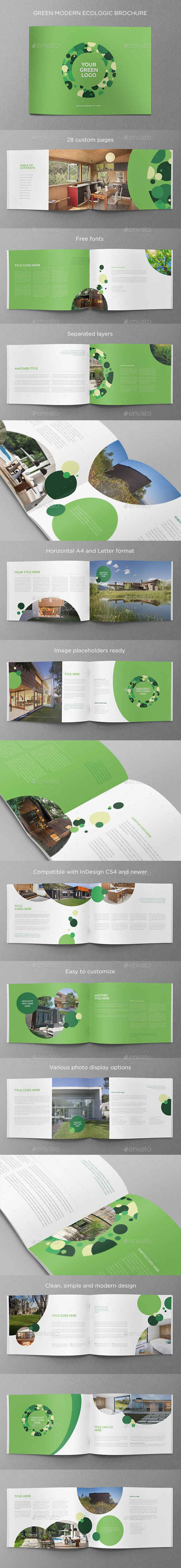GraphicRiver Green Modern Ecologic Brochure 11932612