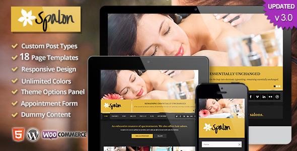 Spalon - Responsive WordPress Theme - Health & Beauty Retail