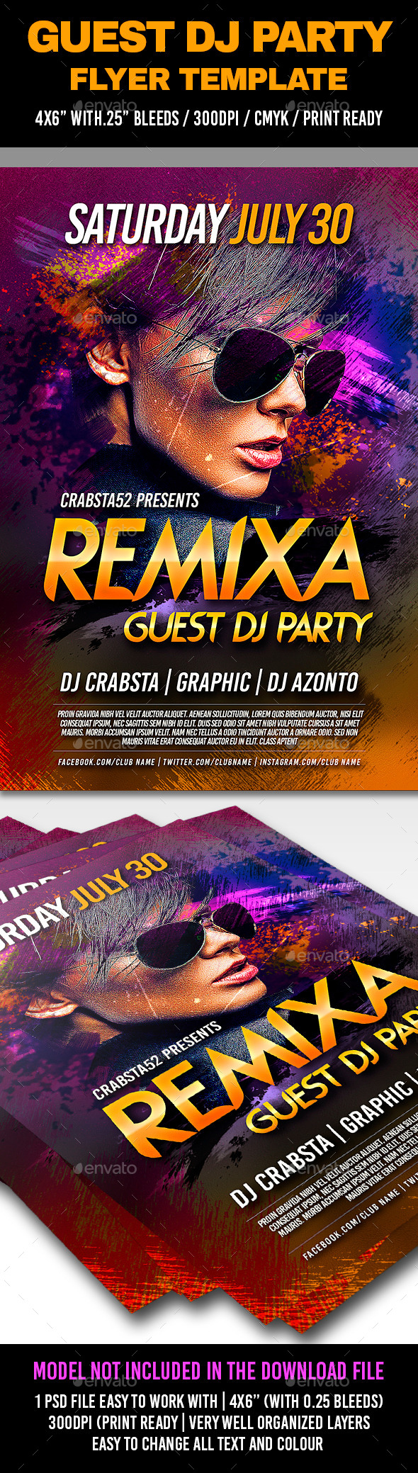 GraphicRiver Guest Dj Party Flyer Template 11932667
